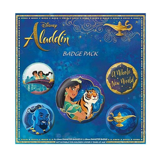 Disney Aladdin A Whole New World Button Badge Pack